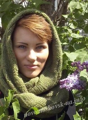 как связать шарф снуд спицами
