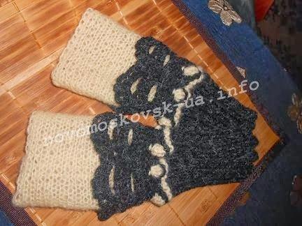 перчатки митенки спицами