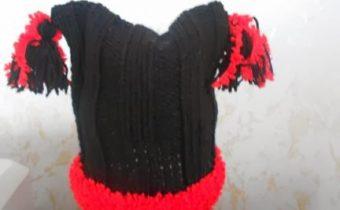 детская шапочка спицами для новорожденного