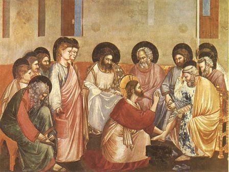 Христос омывает ноги своим ученикам
