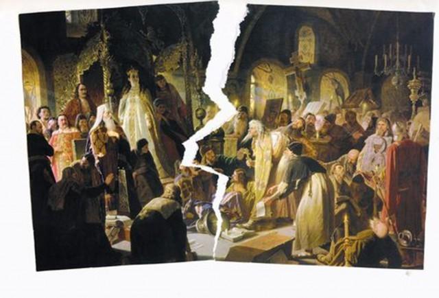 раскол в христианстве на католиков и православных