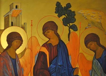 Икона рублева троица