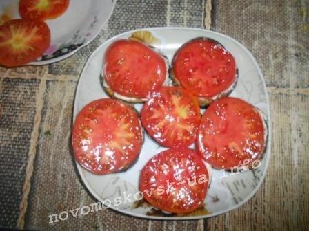 выложить кружок помидора