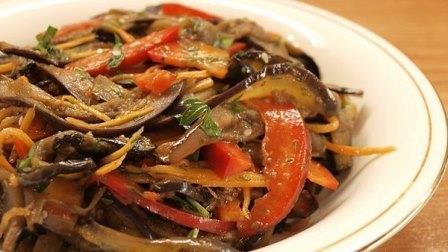 баклажаны по-корейски. простой и вкусный рецепт